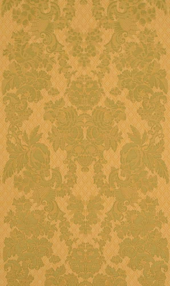 Grun Goldener Barockstoff Im Historischen Stil