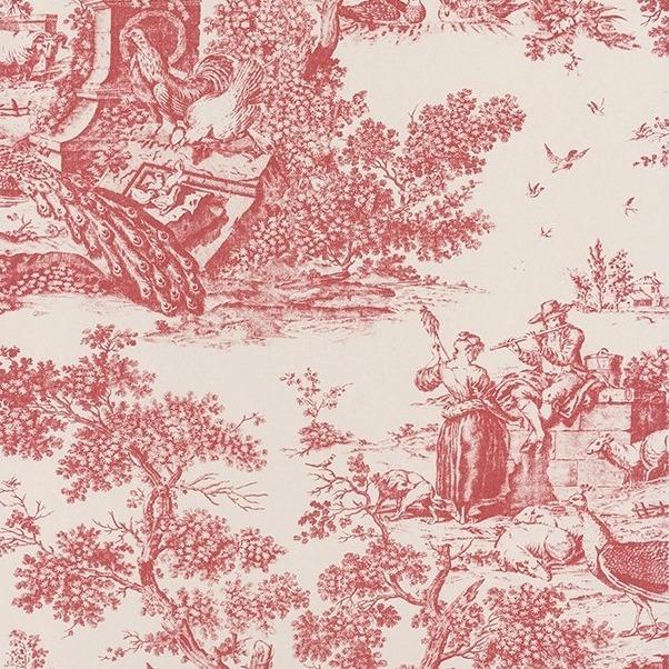 arques scarlet red on linen franz sische vliestapete. Black Bedroom Furniture Sets. Home Design Ideas