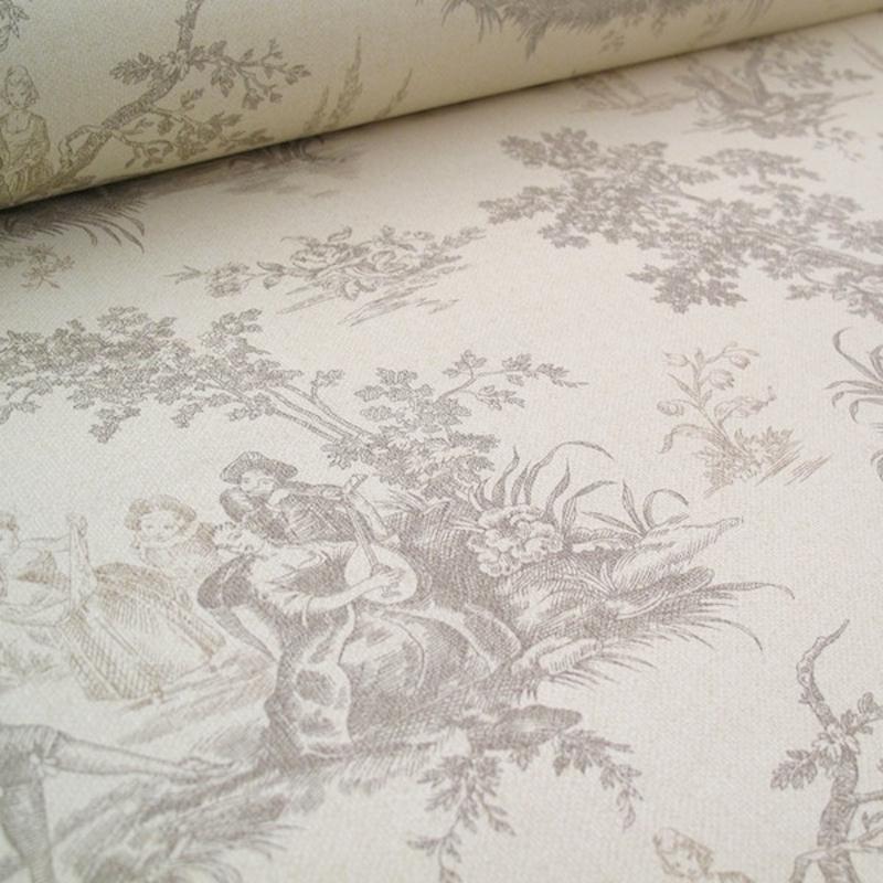 toile de jouy tapeten arte fresca. Black Bedroom Furniture Sets. Home Design Ideas