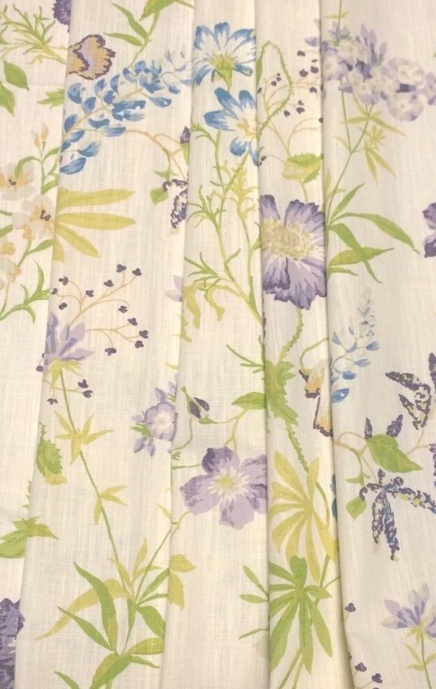 LAURA ASHLEY Stoff NEISHA Lavender Natural