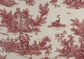 Toile de Jouy Stoff im Landhausstil in Rot
